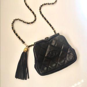 CHANEL | Vintage Quilted CC Tassel Waist Bag